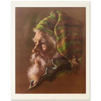 """Virginia Dan (1922-2014), """"Fisherman"""" Limited Edition Lithograph, Numbered and Hand Signed with Letter of Authenticity."""
