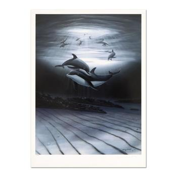 """Wyland, """"Dolphin Affection"""" Limited Edition Lithograph, Numbered and Hand Signed with Certificate of Authenticity."""