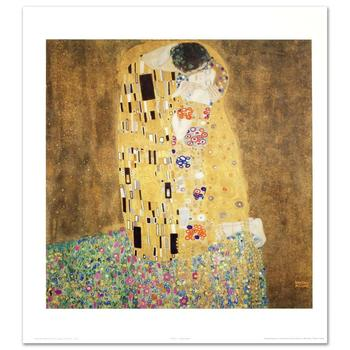 "Gustav Klimt (1862-1918) ""The Kiss"" Fine Art Print, Using EncreLuxe Printing Process."