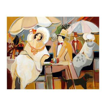 """Isaac Maimon, """"Charlie's Proposal"""" Original Acrylic Painting on Canvas, Hand Signed with Certificate."""