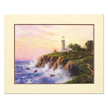 """Thomas Kinkade (1958-2012), """"Sunset Light"""" Limited Edition Offset Lithograph, Numbered and Signed with Letter of Authenticity."""