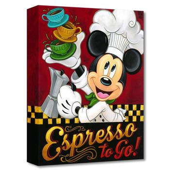 """Tim Rogerson, """"Espresso to Go, """" Limited Edition Gallery Wrapped Canvas from Disney Fine Art; with COA."""
