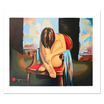 "Alexander Borewko, ""Sensual Moments"" Hand Signed Limited Edition Serigraph with Letter of Authenticity."