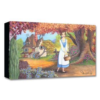 """""""The Flowery Path"""" Limited Edition Gallery Wrapped Canvas by Michelle St. Laurent from the Disney Treasures Collection with COA."""