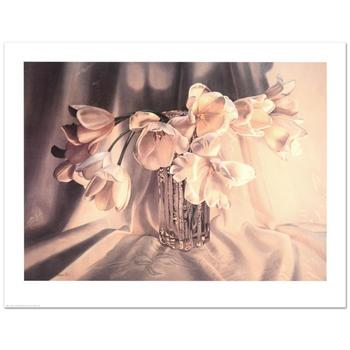 "Barbara Buer, ""Tulips"" Limited Edition Lithograph, Numbered and Hand Signed."