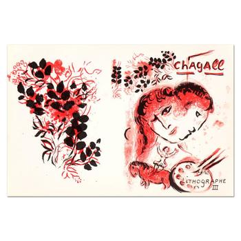 "Marc Chagall (1887-1985), ""Lithographe III"" Original Lithograph, Plate Signed with Letter of Authenticity."