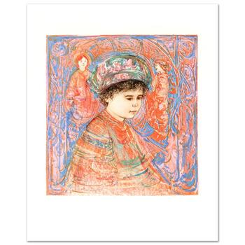 "Edna Hibel (1917-2014), ""Boy with Turban"" Limited Edition Lithograph, Numbered and Hand Signed with Certificate."