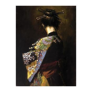 "Fabian Perez ""Geisha"" Hand Embellished Limited Edition Canvas; Hand Signed, with COA."