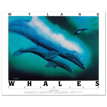 """Wyland, """"California Gray Whales"""" Poster."""