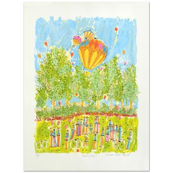 """Susan Pear Meisel, """"Happy Days"""" Ltd Ed Serigraph, Numbered and Hand Signed with Certificate."""