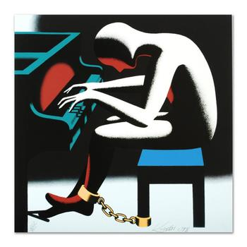 """Mark Kostabi, """"I Did It Steinway"""" Limited Edition Serigraph, Numbered and Hand Signed with Certificate."""