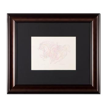"""Guillaume Azoulay, """"Etude AZI"""" Framed Original Drawing, Hand Signed with Letter of Authenticity."""