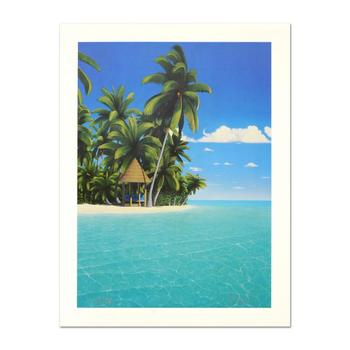 """Dan Mackin, """"The Cabana"""" Limited Edition Lithograph, Numbered and Hand Signed with Letter of Authenticity."""