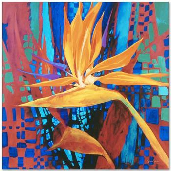 """Simon Bull, """"Bird of Paradise"""" Gallery Wrapped Ltd Ed Giclee on Canvas, Numbered and Signed."""
