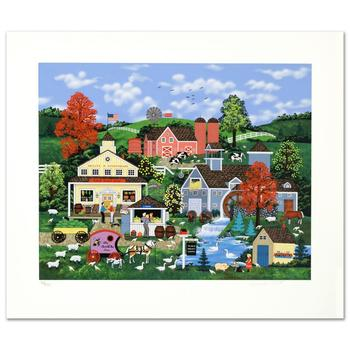 """Jane Wooster Scott, """"Sweet Corn And Summer Dreams"""" Ltd Ed Serigraph, Numbered and Hand Signed with Certificate."""