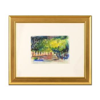 """Judith Bledsoe (1928-2013), """"Summer Evenings"""" Framed Original Pastel Painting, Hand Signed with Letter of Authenticity. $4,500"""