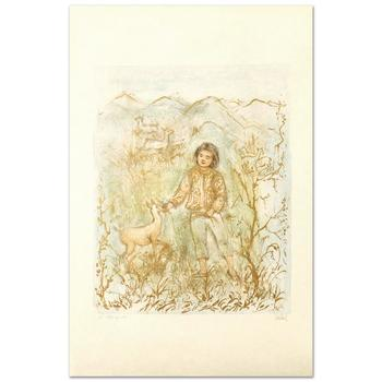 """Edna Hibel (1917-2014), """"The Forest Friend"""" Limited Edition Lithograph, Numbered and Hand Signed with Certificate."""
