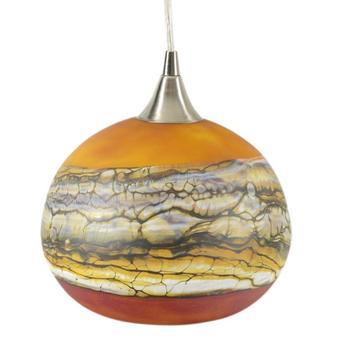 """Strata Series Hanging Lamp"" Hand Blown Glass Sculpture, Hand Signed by GartnerBlade Glass. List $1425"