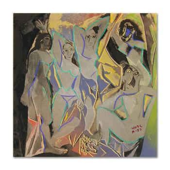 """Ringo, """"Les Demoiselles D'Avignon"""" One-of-a-Kind Hand-Pulled Silkscreen & Mixed Media Painting on Canvas, Hand Signed; COA"""