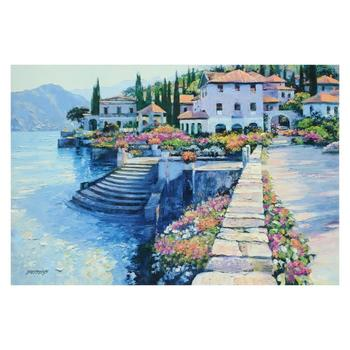 """Howard Behrens (1933-2014), """"Stairway To Carlotta"""" Ltd Ed on Canvas, Numbered and Signed with Certificate of Authenticity."""