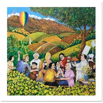 """Guy Buffet, """"Napa Valley Mustard Festival"""" Limited Edition Serigraph; Numbered and Hand-Signed with Certificate."""