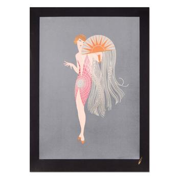 """Erte (1892-1990), """"Flapper"""" Limited Edition Serigraph, Numbered and Estate Signed with Certificate."""