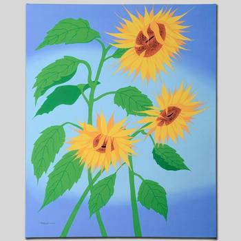 """Larissa Holt, """"Summer Sunflowers"""" Ltd Ed Giclee on Gallery Wrapped Canvas, Numbered and Signed."""