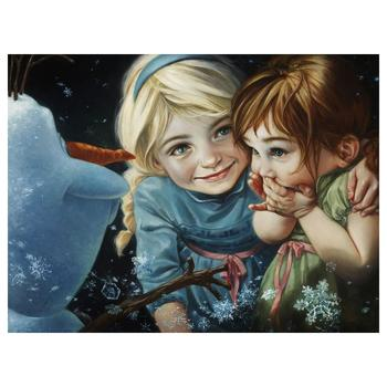 """Heather Theurer, """"Never Let It Go"""" Hand Embellished, Hand Signed Limited Edition Canvas from Disney Fine Art; COA"""
