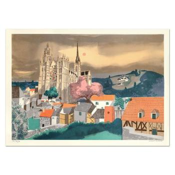 """Georges Lambert (1919-1998), """"Rouen"""" Limited Edition Lithograph, Numbered and Hand Signed."""
