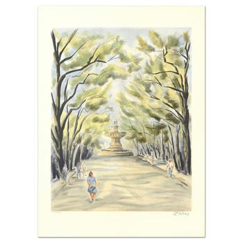 """Victor Zarou, """"Aix"""" Limited Edition Lithograph, Numbered and Hand Signed."""