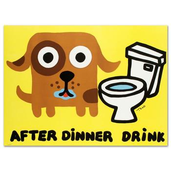 """Todd Goldman, """"After Dinner Drink"""" Ltd Ed Lithograph, Numbered and Hand Signed with Certificate of Authenticity."""
