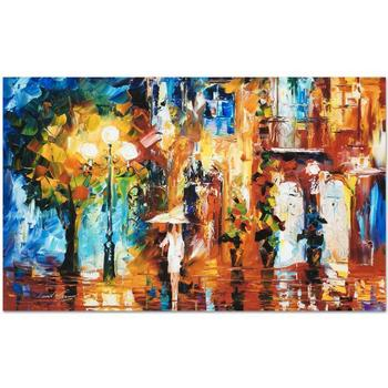 """Leonid Afremov """"Streetside Expression"""" Limited Edition Giclee on Gallery Wrapped Canvas, Numbered and Signed."""