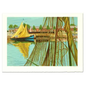 """Laurent Marcel Salinas (1913-2010), """"Sailboat"""" Ltd Ed Serigraph, Numbered and Hand Signed with Letter of Authentication."""