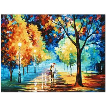 """Leonid Afremov """"Night Alley"""" Limited Edition Giclee on Gallery Wrapped Canvas, Numbered and Signed."""
