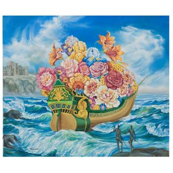 "Eugene Poliarush, ""Sailing Home"" Hand Signed Original Oil on Canvas; COA"