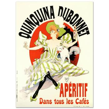 """""""Quinquina Dubonnet"""" Hand Pulled Lithograph by the RE Society, Image Originally by Jules Cheret w/Certificate."""