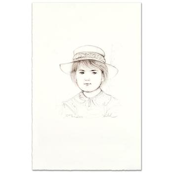 """Edna Hibel (1917-2014), """"Kirk"""" Limited Edition Lithograph, Numbered and Hand Signed with Certificate."""