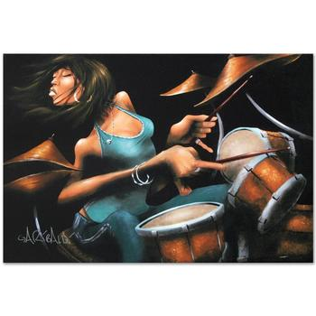 """David Garibaldi, """"Lola Beats"""" LIMITED EDITION Giclee on Canvas, R Numbered and Signed."""