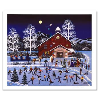 """Jane Wooster Scott, """"Moonlight Merriment"""" Ltd Ed Lithograph, Numbered and Hand Signed with Certificate."""