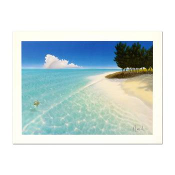 """Dan Mackin, """"Afternoon Swim"""" Limited Edition Lithograph, Numbered and Hand Signed with Letter of Authenticity."""