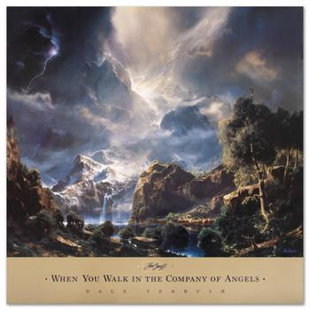 """Dale Terbush, """"When You Walk in the Company of Angels"""" Poster (1996)."""