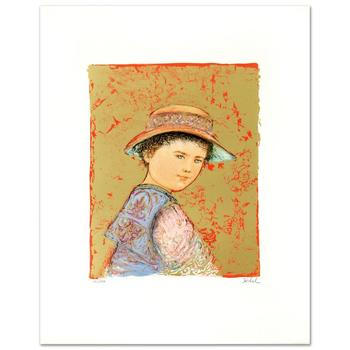 """Edna Hibel (1917-2014), """"Joel"""" Limited Edition Lithograph, Numbered and Hand Signed with Certificate."""