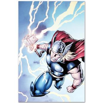 """Marvel Comics """"Marvel Adventures: Super Heroes #7"""" Numbered Limited Edition Canvas by Salva Espin; Includes COA."""