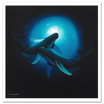 """Wyland, """"Sea Dance"""" Limited Edition Giclee on Canvas, Numbered and Hand Signed with Certificate of Authenticity."""