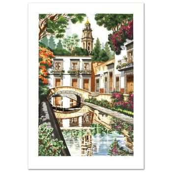 """Juan Medina, """"Reflections"""" Limited Edition Serigraph, Numbered and Hand Signed with Certificate."""