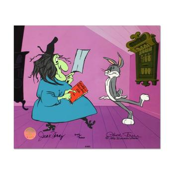 """Chuck Jones """"Rabbit Recipes"""" Hand-Signed Hand-painted Limited Edition Sericel."""