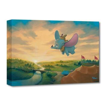 """""""Flight Over the Big Top"""" Limited edition gallery wrapped canvas by Rob Kaz from the Disney Treasures collection."""