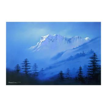 """Richard Leung, """"Snow Mountain"""" Limited Edition on Canvas, Numbered and Hand Signed with Letter of Authenticity."""