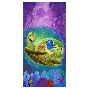 """Tim Rogerson """"Cheer Up, Dude"""" Disney Limited Edition Hand Embellished Giclee on Canvas; Hand Signed; COA"""