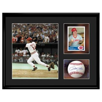 Framed Collectible Lithograph Set Featuring Pete Rose.